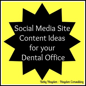 social media help for dentists