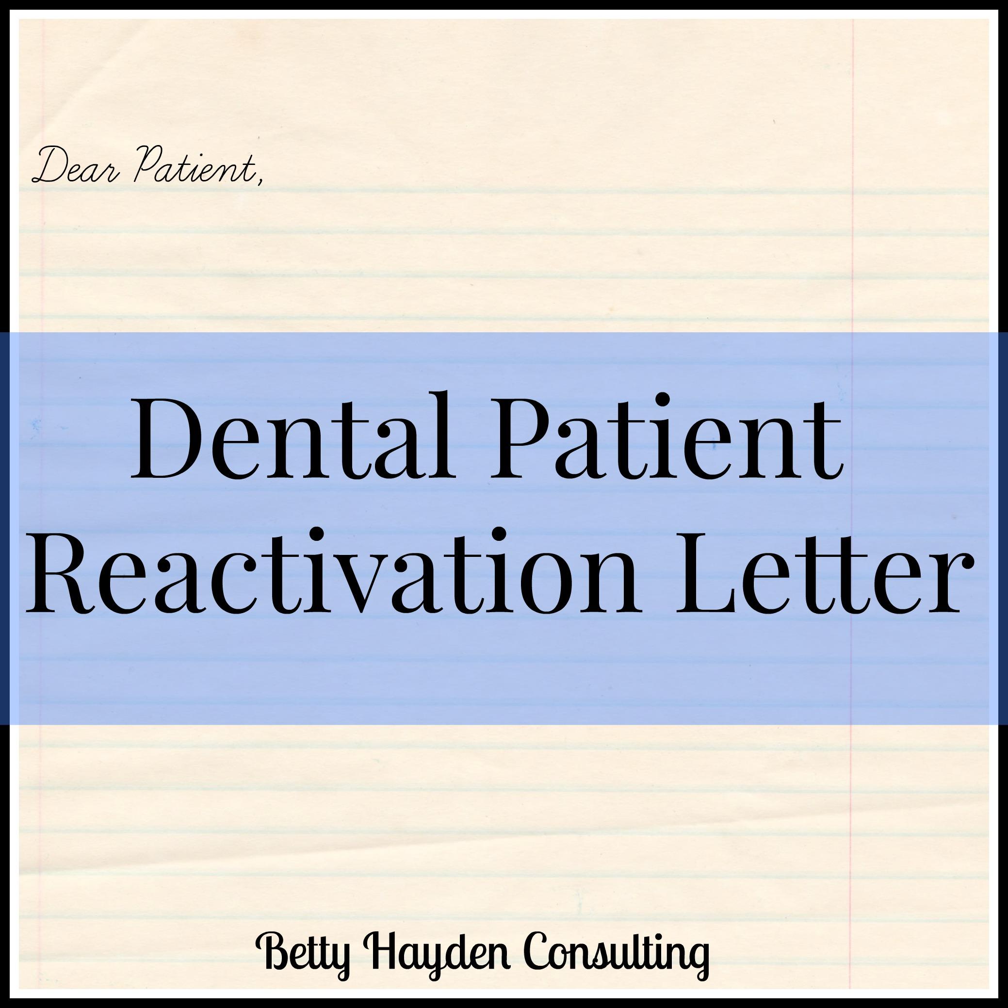 dental letter