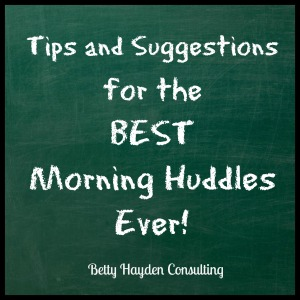 tips for the best morning huddle ever