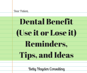 dental remaining maximum, FSA, and HSA letter, tips and ideas